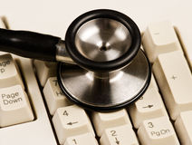 Keyboard And Stethoscope Royalty Free Stock Image
