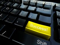Keyboard of success Royalty Free Stock Image