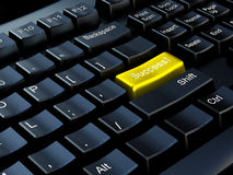 Keyboard of success Stock Photos