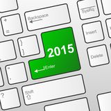 Keyboard sylvester 2015 enter Royalty Free Stock Photo