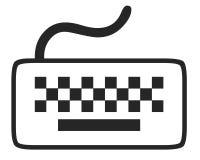 Keyboard symbol. Computer keyboard symbol on white background Stock Image