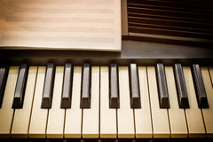 Keyboard synthesizer with notes Royalty Free Stock Photo