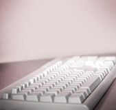 The  keyboard on the table. Royalty Free Stock Photo