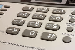 Keyboard telephone and fax Stock Photography