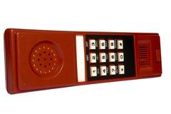 Keyboard on a telephone tube Stock Image