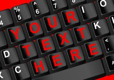 Keyboard text. Closeup view of a pc keyboard vector illustration Stock Image