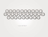 Keyboard with text background Royalty Free Stock Photos