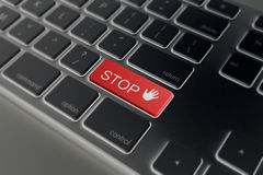 Keyboard with a text stop Stock Photo