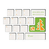 Keyboard - time of gifts - Happy New Year. 2017 Royalty Free Stock Images