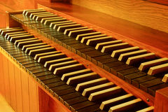 Keyboard to pipe organ Stock Images