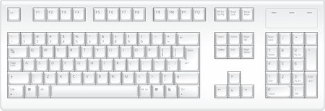 Keyboard. Top view. Detailed vector image. Vector original is ready for download Stock Photography