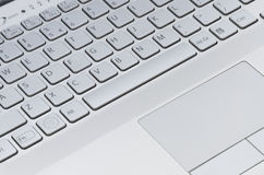 Keyboard with touchpad Stock Image