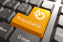 Keyboard with Translate Button. Stock Images
