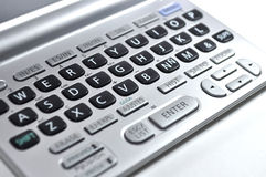 Keyboard translator. An image of a dictionary english to spanish Stock Images