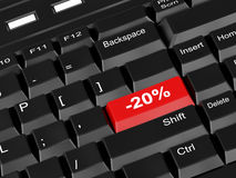 Keyboard - with a twenty percent Stock Photos