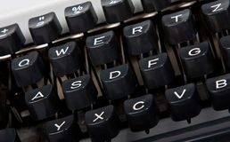 Keyboard of typewriter Stock Images