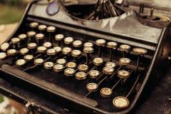 Keyboard of Typewriter Machine retro vintage style Royalty Free Stock Photo