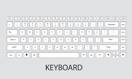 Keyboard vector illustration. Computer keyboard design.vector illustration Royalty Free Illustration