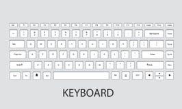 Keyboard vector illustration. Computer keyboard  design.vector illustration Royalty Free Stock Images