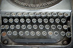 Keyboard of a vintage typewriter Stock Image