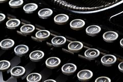 Keyboard of a vintage typewriter Stock Photography