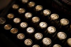 Keyboard of a vintage typewriter Stock Photos