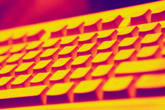 Keyboard vision. Keyboard in red light Stock Photo