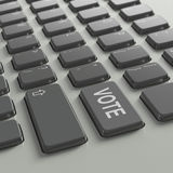 Keyboard with Vote concept text Stock Photos