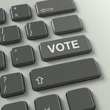 Keyboard with Vote concept text Royalty Free Stock Image