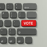 Keyboard with Vote concept text Stock Photography