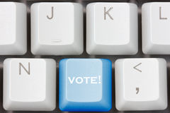 Keyboard with vote key Royalty Free Stock Photography