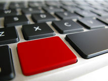 Keyboard with a warning red key Royalty Free Stock Image