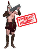 Keyboard Warrior Illustration Royalty Free Stock Photography