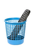 Keyboard in a Waste Basket Stock Images