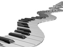 Keyboard wave Stock Photo