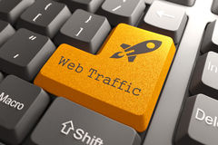 Keyboard with Web Traffic Button. Royalty Free Stock Photos