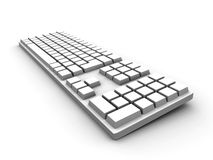 Keyboard - white Royalty Free Stock Photos