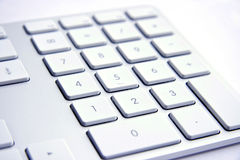 Keyboard on white background. Silver mac Keyboard on white background Stock Images