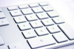 Keyboard on white background. Silver mac Keyboard on white background stock images