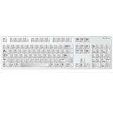 Keyboard white vector art illustration Stock Image