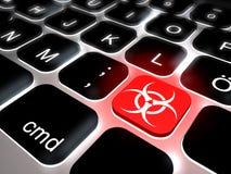Free Keyboard With Key Biohazard Stock Photo - 32085610