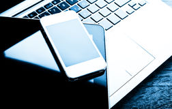 Free Keyboard With Phone And Tablet Pc Stock Photo - 52144450