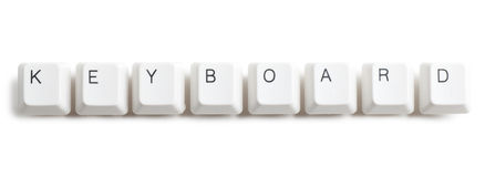 Keyboard word Stock Photography
