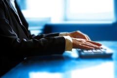 Keyboard work hand Stock Photo