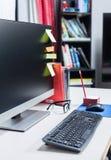 Keyboard at working desk Royalty Free Stock Image
