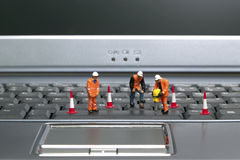 Keyboard workmen 2 Royalty Free Stock Photography