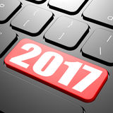 Keyboard on year 2017. Image with hi-res rendered artwork that could be used for any graphic design Stock Photo