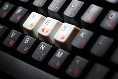 Keyboard yes  key Stock Photo