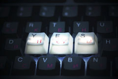 Keyboard yes  key Royalty Free Stock Photos