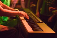 Keyboarder Performing Royalty Free Stock Photos